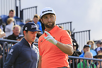 Jon Rahm (ESP) tees off the 13th tee during Thursday's Round 1 of the 148th Open Championship, Royal Portrush Golf Club, Portrush, County Antrim, Northern Ireland. 18/07/2019.<br /> Picture Eoin Clarke / Golffile.ie<br /> <br /> All photo usage must carry mandatory copyright credit (© Golffile | Eoin Clarke)