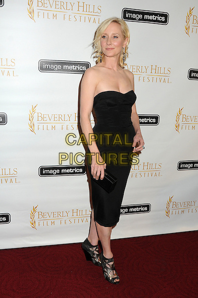 Anne Heche.12th Annual Beverly Hills Film Festival Opening Night held at the AMPAS Samuel Goldwyn Theater, Beverly Hills, California, USA..April 25th, 2012.full length black dress strapless .CAP/ADM/BP.©Byron Purvis/AdMedia/Capital Pictures.