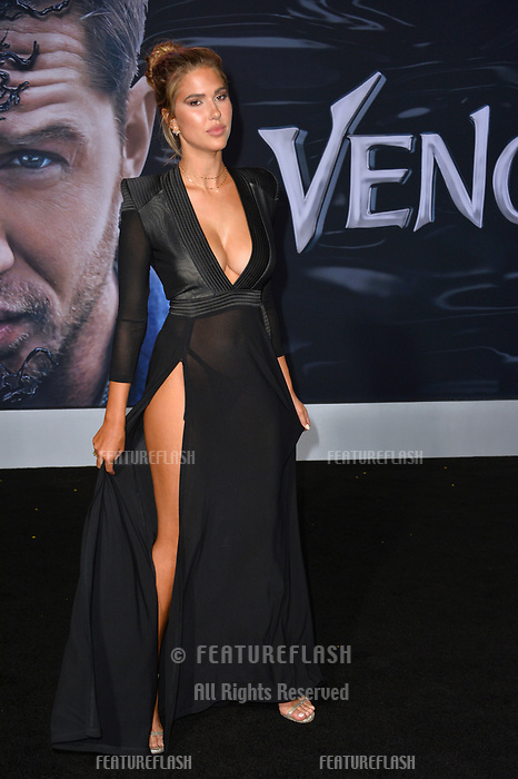 LOS ANGELES, CA. October 01, 2018: Kara Del Toro at the world premiere for &quot;Venom&quot; at the Regency Village Theatre.<br /> Picture: Paul Smith/Featureflash