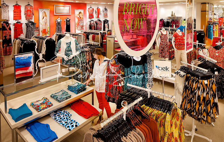 Photography in various sections of the Belk Department store at South Park Mall in Charlotte, NC...Photo by: PatrickSchneiderPhoto.com