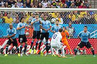 Wayne Rooney of England takes a free kick