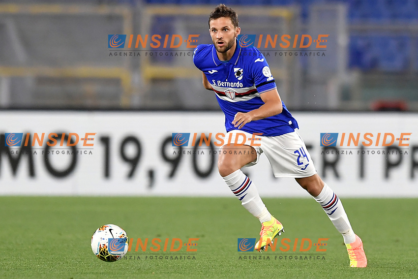 Bartosz Bereszynski of UC Sampdoria in action during the Serie A football match between AS Roma and UC Sampdoria at Olimpico stadium in Rome ( Italy ), June 24th, 2020. Play resumes behind closed doors following the outbreak of the coronavirus disease. AS Roma won 2-1 over UC Sampdoria. <br /> Photo Andrea Staccioli / Insidefoto