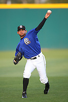 April 15 2009: Alexander Torres of the Rancho Cucamonga Quakes before game against the Visalia Rawhide at The Epicenter in Rancho Cucamonga,CA.  Photo by Larry Goren/Four Seam Images