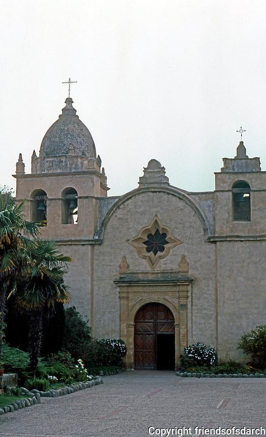 California Missions: Mission San Carlos, Carmel. 1793-1797.  Photo '86.