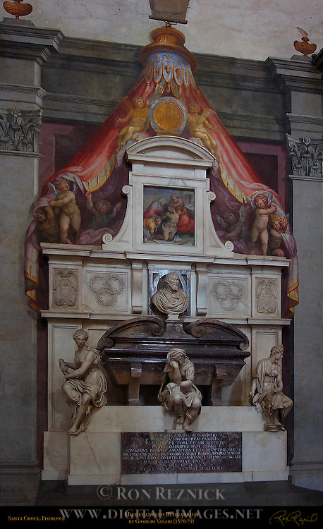 Monument to Michelangelo Buonarroti Giorgio Vasari 1579 Santa Croce Florence