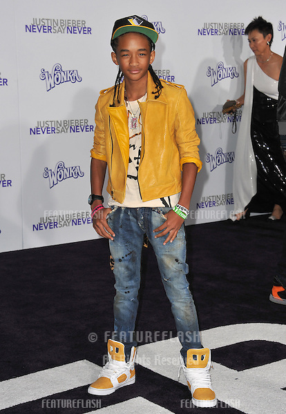 "Jaden Smith at the Los Angeles premiere of ""Justin Bieber: Never Say Never"" at the Nokia Theatre LA Live..February 8, 2011  Los Angeles, CA.Picture: Paul Smith / Featureflash"