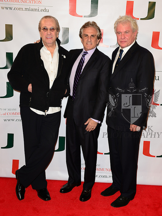 CORAL GABLES, FL - NOVEMBER 20: Danny Aiello, John Herzfeld and Tom Berenger attend the premiere screening Of 'Reach Me' Hosted by University Of Miami inside the BankUnited Center Fieldhouse at University of Miami on Thursday November 20, 2014 in Coral Gables, Florida. (Photo by Johnny Louis/jlnphotography.com)