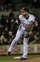Pitcher relevo de Hector Galvan de Naranjeros , durante el tercer juego de la Serie entre Tomateros de Culiacán vs Naranjeros de Hermosillo en el Estadio Sonora. Segunda vuelta de la Liga Mexicana del Pacifico (LMP) **26Dici2015.<br /> **CreditoFoto:LuisGutierrez<br /> **<br /> Shares during the third game of the series between Culiacan Tomateros vs Orange sellers of Hermosillo in Sonora Stadium. Second round of the Mexican Pacific League (PML)