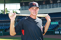 Minnesota Twins minor league outfielder Max Kepler (7) during a game vs. the New York Mets in an Instructional League game at City of Palms Park in Fort Myers, Florida;  October 4, 2010.  Kepler-Rozycki signed to a $800,000 bonus with the Twins, a record for an amateur outside the U.S. and Latin America.  Photo By Mike Janes/Four Seam Images