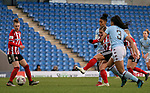 Katie Wilkinson of Sheffield United shoots at goal during the The FA Women's Championship match at the Proact Stadium, Chesterfield. Picture date: 12th January 2020. Picture credit should read: James Wilson/Sportimage