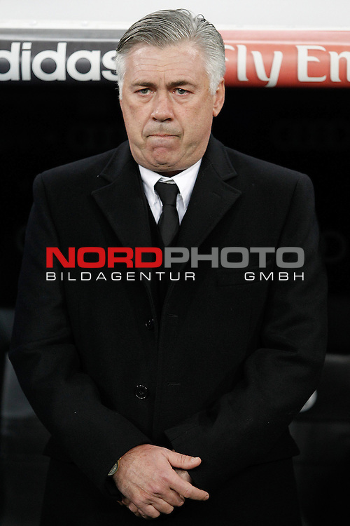 Real Madrid¬¥s  coach Carlo Ancelotti  during La Liga 2013-14 match at Bernabeu Stadium in Madrid, Spain. November 30, 2013. (Foto © nph /  /Victor Blanco)