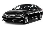2018 Acura ILX Technology Plus 4 Door Sedan angular front stock photos of front three quarter view