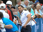 England's Kelvin Fletcher with fans <br /> <br /> Golf - Day 1 - Celebrity Cup 2018 - Saturday 30th June 2018 - Celtic Manor Resort  - Newport<br /> <br /> &copy; www.sportingwales.com- PLEASE CREDIT IAN COOKCelebrity Cup 2018<br /> Celtic Manor Resort<br /> 30.06.18<br /> &copy;Steve Pope <br /> Fotowales