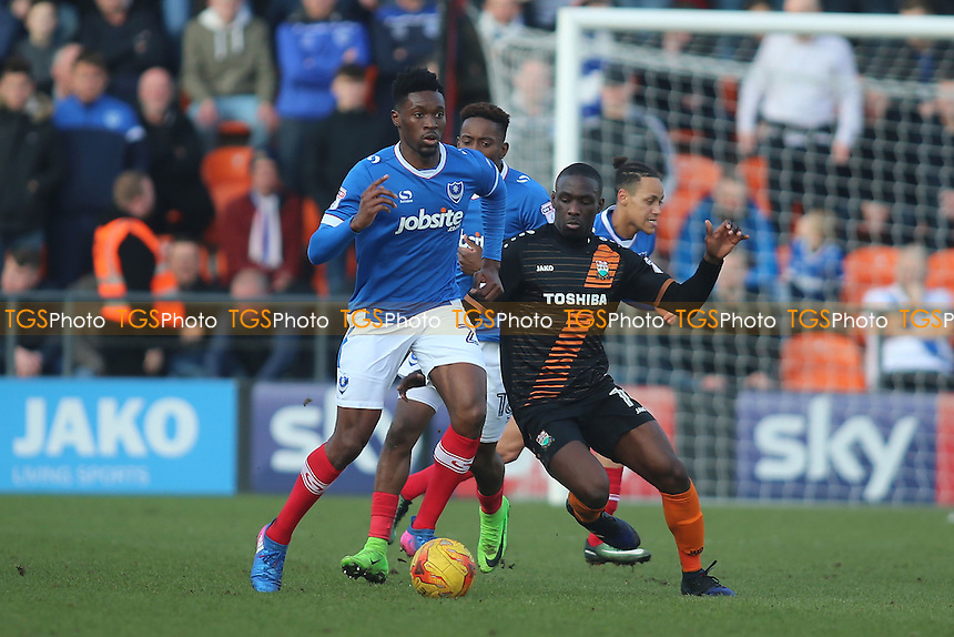 Simeon Akinola of Barnet chases the ball during Barnet vs Portsmouth, Sky Bet EFL League 2 Football at the Hive Stadium on 18th February 2017