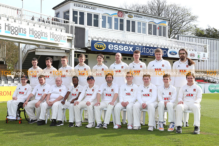 Essex CCC Disability group team photograph during the Essex CCC Press Day at The Cloudfm County Ground on 5th April 2017