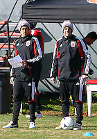 WASHINGTON, DC - NOVEMBER 14, 2012: Josh Wolff and Ben Olsen of DC United during a practice session before the second leg of the Eastern Conference Championship at DC United practice field, in Washington, DC on November 14.