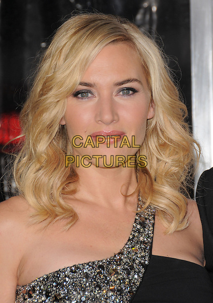 "KATE WINSLET .World Premiere of ""Revolutionary Road"" held at The Mann Village Theatre in Westwood, California, USA. .December 15th, 2008 .headshot portrait black jewel encrusted one shoulder.CAP/DVS.©Debbie VanStory/Capital Pictures."