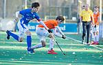 BLOEMENDAAL  - Florian Dorignaux , competitiewedstrijd junioren  landelijk  Bloemendaal JB1-Kampong JB1 (4-3) . COPYRIGHT KOEN SUYK