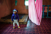 A child at the day care centre in the Pedro Tea Estate in Nuwareliya in Central Sri Lanka.  Photo: Sanjit Das/Panos