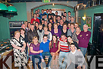 Barry Lynch(seated 2nd from the Lt)Kevin Barry's Villas,Tralee had a roaring time celebrating his 21st birthday last Saturday night in Dowdies bar,Boherbue,Tralee with family and many friends.