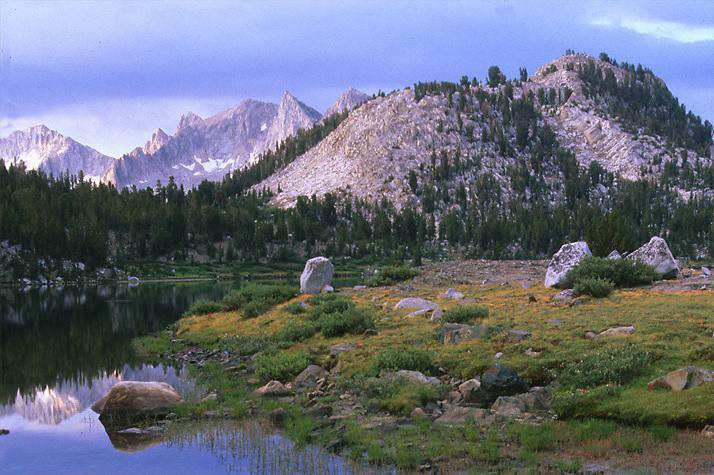 Lake Virginia in John Muir Wilderness, CA