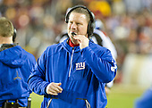 New York Giants head coach Ben McAdoo watches first quarter action against the Washington Redskins at FedEx Field in Landover, Maryland on Thursday, November 23, 2017.<br /> Credit: Ron Sachs / CNP<br /> (RESTRICTION: NO New York or New Jersey Newspapers or newspapers within a 75 mile radius of New York City)