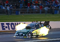 May 30, 2014; Englishtown, NJ, USA; NHRA funny car driver John Force during qualifying for the Summernationals at Raceway Park. Mandatory Credit: Mark J. Rebilas-