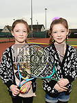 Leila and Darcy Currie at the Laytown and Bettystown Tennis Club Promotion day. Photo:Colin Bell/pressphotos.ie