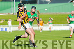 In Action Abbeydorney's Kieran Dineen and Crotta's  Colin Browne at the Senior County Hurling Championship 2016 Round 1 Replay Crotta O'Neills v Abbeydorney at Austin Stacks Park on Sunday