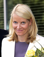 Crown Prince Haakon & Crown Princess Mette-Marit of Norway's three-day visit to Poland..Arrival at Warsaw Airport.