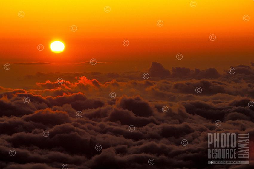 Sunset, Haleakala crater, Maui
