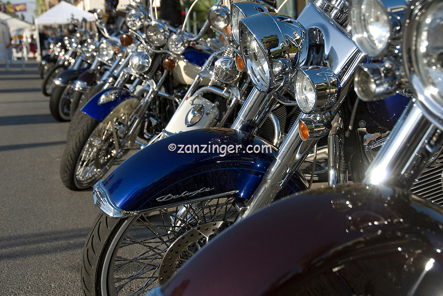 Harley-Davidson, Motorcycle Front Ends in Line, Classic, American Heat, Palm Springs, CA, Motorcycle, & Hot Rod, Weekend