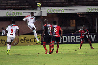 CÚCUTA -COLOMBIA, 09-08-2013.  Aspecto delpartido entre Cucuta Deportivo y Patriotas FC  válido por la fecha 3 de la Liga Postobon II disputado en el estadio General Santander de la ciudad de Cucuta, julio 26 de 2013./  Aspect of the match batween Cucuta Deportivo and Patriotas valid of the third date for the Postobon League II at the General Santander Stadium in Cucuta city, July 1th, 2013. Photo: VizzorImage/Manuel Hernandez/STR