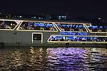 Cruising on the Chao Phraya in Bangkok in Thailand.