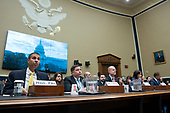 Chairman of the Federal Communications Commission Ajit Pai, Commissioners at the Federal Communications Commission Michael O'Rielly, Brendan Carr, Jessica Rosenworcel, and Geoffrey Starks testify before the United States House Committee on Energy and Commerce at the United States Capitol in Washington D.C., U.S., on Thursday, December 5, 2019. <br /> <br /> Photographer: Stefani Reynolds/CNP