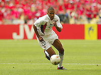 Defender Tony Sanneh. The USA tied South Korea, 1-1, during the FIFA World Cup 2002 in Daegu, Korea.
