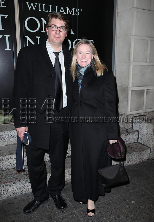Scott Landis & Kathleen Marshall attending the Broadway Opening Night Performance of 'Cat On A Hot Tin Roof' at the Richard Rodgers Theatre in New York City on 1/17/2013