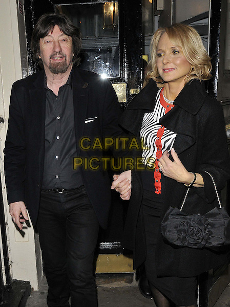 LONDON, ENGLAND - MARCH 25: Sir Trevor Nunn &amp; his partner depart after the &quot;Fatal Attraction&quot; press night performance, Theatre Royal Haymarket, Haymarket, on Tuesday March 25, 2014 in London, England, UK.<br /> CAP/CAN<br /> &copy;Can Nguyen/Capital Pictures