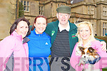 Emily Piggot and Micheál O Muircheartaigh who started the Let's Get Kerry Walking/Operation Transformation walk in Muckross on Saturday with Emily mum Noreen and sister Linda (right)..