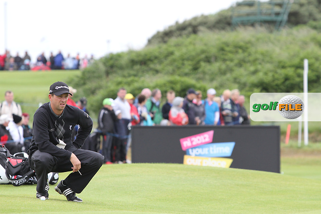 Sam Little (ENG) on Day 4 of the 2012 Irish Open at Royal Portrush Golf Club, Portrush, Co.Antrim, 1/7/12...(Photo Jenny Matthews/www.golffile.ie)