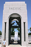 The Pacific Pavilion in the WWII Memorial, Washington, DC