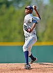 4 July 2012: Hudson Valley Renegades pitcher Eduar Quinonez on the mound against the Vermont Lake Monsters at Centennial Field in Burlington, Vermont. The Lake Monsters edged out the Renegades the Cyclones 2-1 in NY Penn League action. Mandatory Credit: Ed Wolfstein Photo