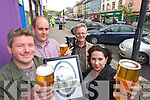 Pictured at the launch of Kenmare Beer on Wednesday Were Paul Walsh, P.F. McCarthys Bar, Donald Walsh, Kenmare Chamber of Commerce, Dick Moxley, and Rose Curulli.