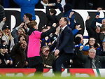 Duncan Ferguson stand in manager of Everton celebrates their third goal during the Premier League match at Goodison Park, Liverpool. Picture date: 7th December 2019. Picture credit should read: Simon Bellis/Sportimage