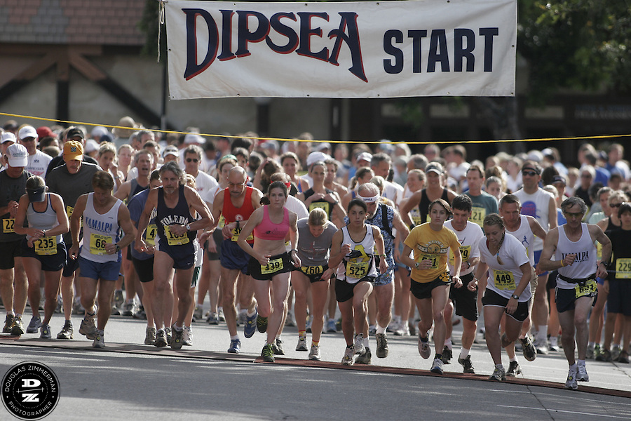 Runners take off from the start line of the 97th running of the Dipsea Race in Mill Valley, Calif.  on Sunday, June 10, 2007.
