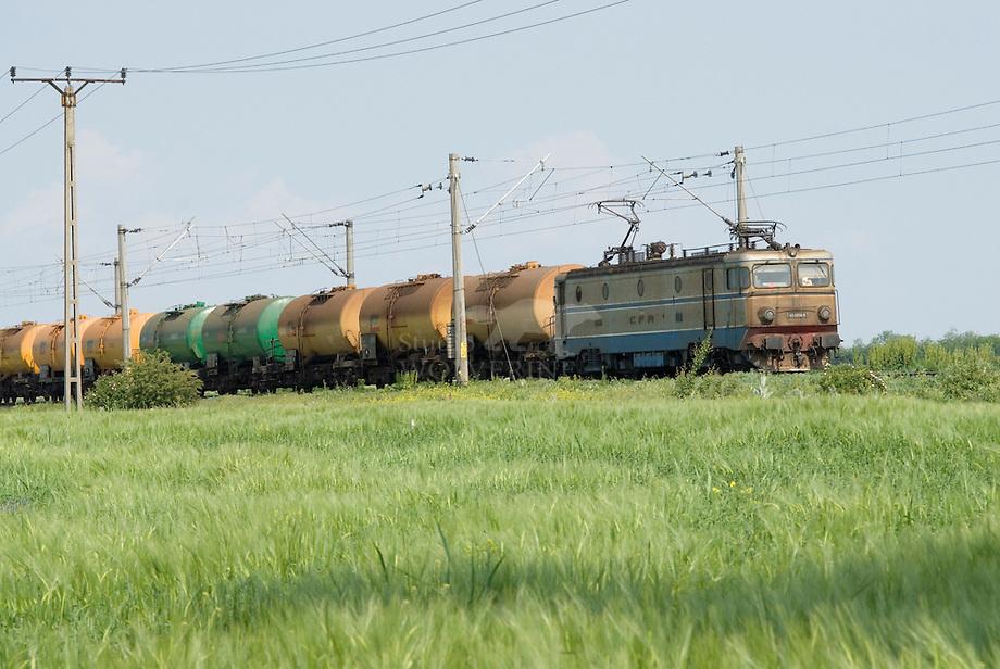 Olietrein op weg naar de Zwarte zee, Roemenie