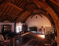 The Roof Chamber has timbers of chestnut and sweeping arches which support the old rafters from the original Great Hall