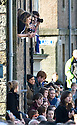 ::  LOCALS TAKE EVERY VANTAGE POINT TO SEE PRINCE WILLIAM  AND FIANCE KATE IN ST ANDREWS :: HRH PRINCE WILLIAM OF WALES AND FIANCE KATE MIDDLETON WHERE IN ST ANDREWS TO LAUNCH THE UNIVERSITY OF ST ANDREWS' 600TH ANNIVERSARY CELEBRATIONS  ::