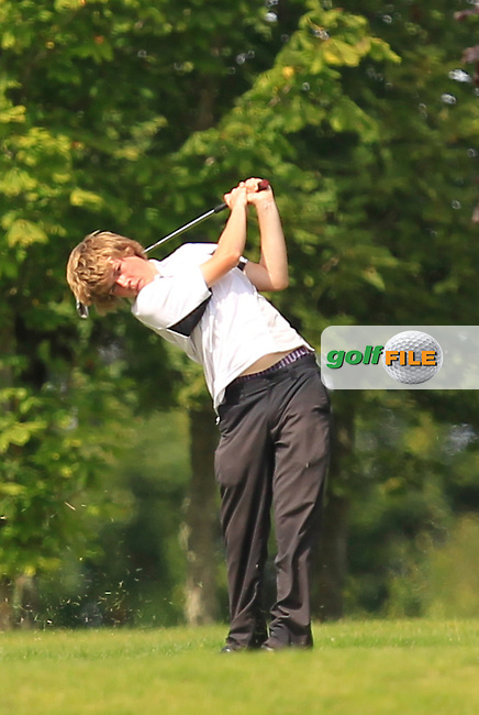 Louis O'Hara (Athenry) on the 10th during the Irish Boys Under 15 Amateur Open Championship Round 2 at the West Waterford Golf Club on Wednesday 21st August 2013 <br /> Picture:  Thos Caffrey/ www.golffile.ie