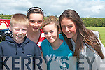 Enjoying the races in aid of the Nano Nagle School in Duagh on Sunday were Shane Horgan, Aisling Mangan, Mariah Stack and Laura Sheehan, all from Duagh.......   Copyright Kerry's Eye 2008